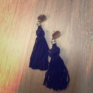 Lucky brand black tassel earrings